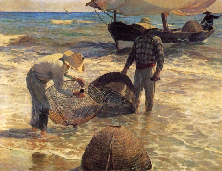 Valencian Fishermen | Joaquin Sorolla y Bastida | oil painting
