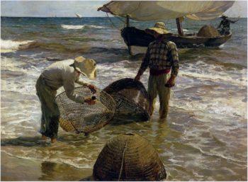 Valencian fisherman | Joaquin Sorolla y Bastida | oil painting