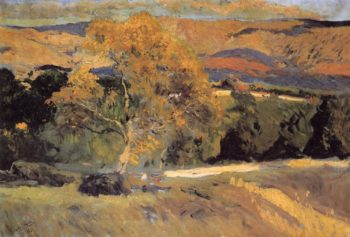 The Yellow Tree La Granja | Joaquin Sorolla y Bastida | oil painting