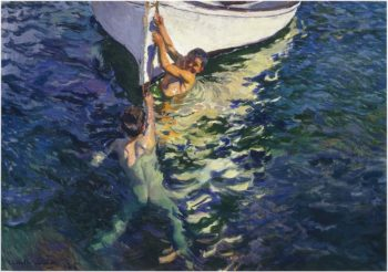 The White Boat Javea | Joaquin Sorolla y Bastida | oil painting