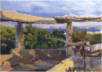 The waterwheel Javea | Joaquin Sorolla y Bastida | oil painting