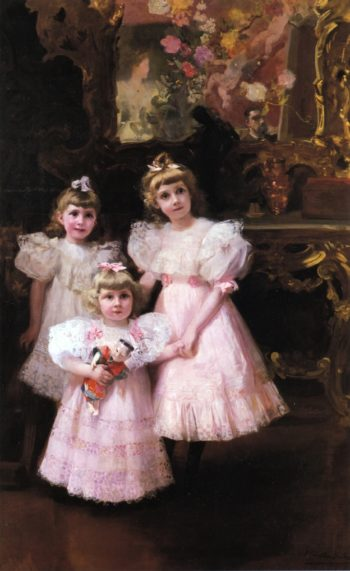 The Three Errazuriz Sisters | Joaquin Sorolla y Bastida | oil painting