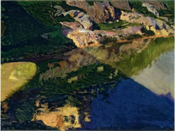 The Shadow of Alcantara Bridge Toledo | Joaquin Sorolla y Bastida | oil painting