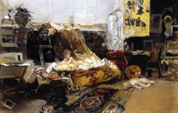 The Painter's Studio | Joaquin Sorolla y Bastida | oil painting