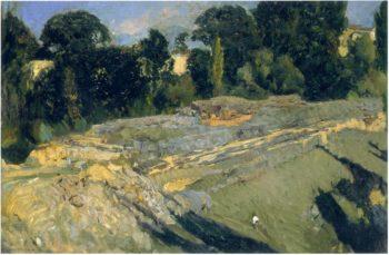 The outskirts of Segovia | Joaquin Sorolla y Bastida | oil painting