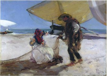 The Net | Joaquin Sorolla y Bastida | oil painting