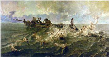The Nereids | Joaquin Sorolla y Bastida | oil painting