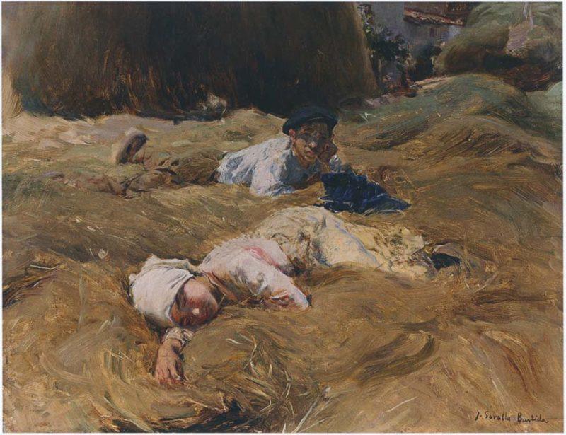 The nap Asturias | Joaquin Sorolla y Bastida | oil painting
