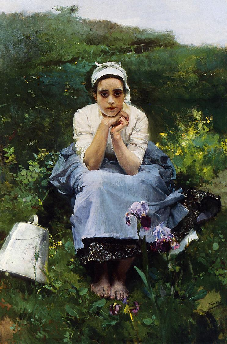 The Milkmaid | Joaquin Sorolla y Bastida | oil painting