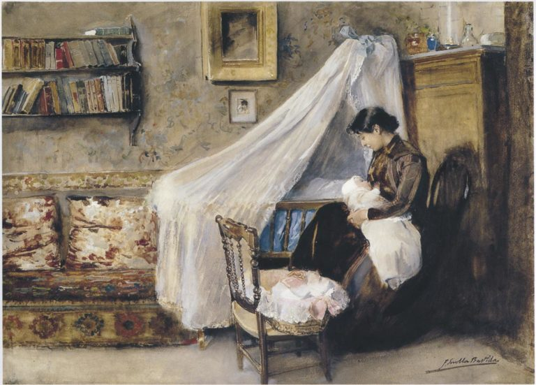 The First child | Joaquin Sorolla y Bastida | oil painting