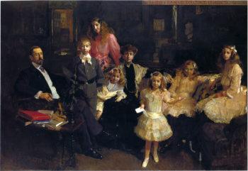 The Family of Rafael Errazuriz | Joaquin Sorolla y Bastida | oil painting