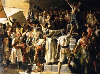 The Cry of El Palleter | Joaquin Sorolla y Bastida | oil painting