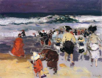 The Beach at Biarritz 1 | Joaquin Sorolla y Bastida | oil painting