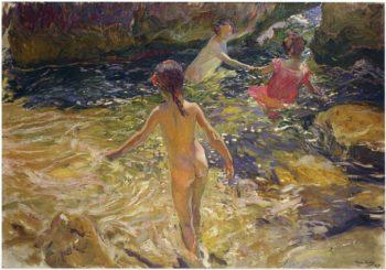 The Bath Javea   Joaquin Sorolla y Bastida   oil painting
