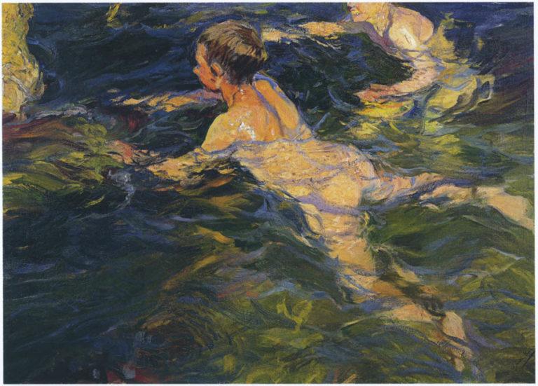 Swimmers Javea | Joaquin Sorolla y Bastida | oil painting