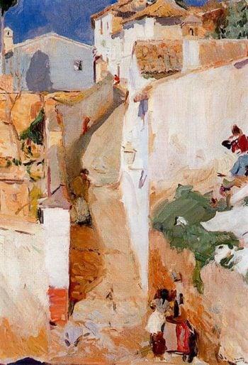 Street in Granada   Joaquin Sorolla y Bastida   oil painting