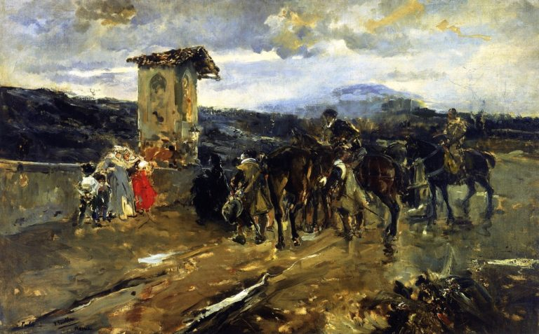 Stopping along the Way Scene from Don Quixote | Joaquin Sorolla y Bastida | oil painting