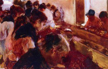 Stemming Raisins Javea   Joaquin Sorolla y Bastida   oil painting