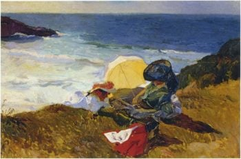 Setting sun in Biarritz | Joaquin Sorolla y Bastida | oil painting