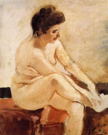 Seated Nude | Joaquin Sorolla y Bastida | oil painting