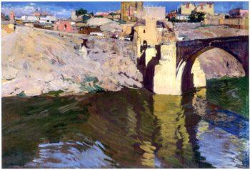 San Martin Bridge at Toledo | Joaquin Sorolla y Bastida | oil painting