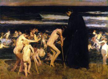 Sad Inheritance | Joaquin Sorolla y Bastida | oil painting