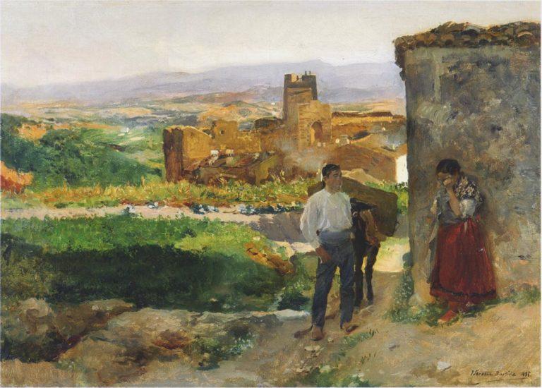 Ruins of Bunol | Joaquin Sorolla y Bastida | oil painting