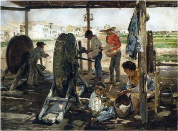 Ropemakers | Joaquin Sorolla y Bastida | oil painting