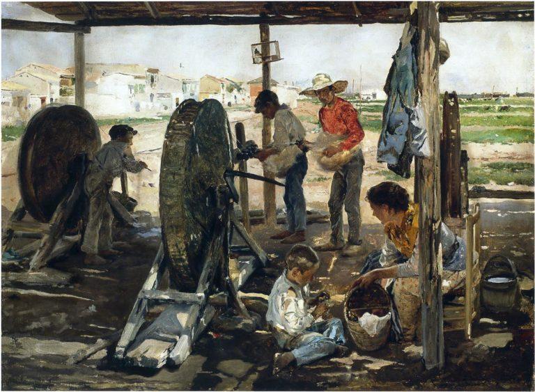 Ropemakers   Joaquin Sorolla y Bastida   oil painting