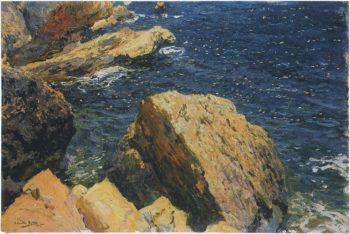 Rocks of the Cape Javea | Joaquin Sorolla y Bastida | oil painting