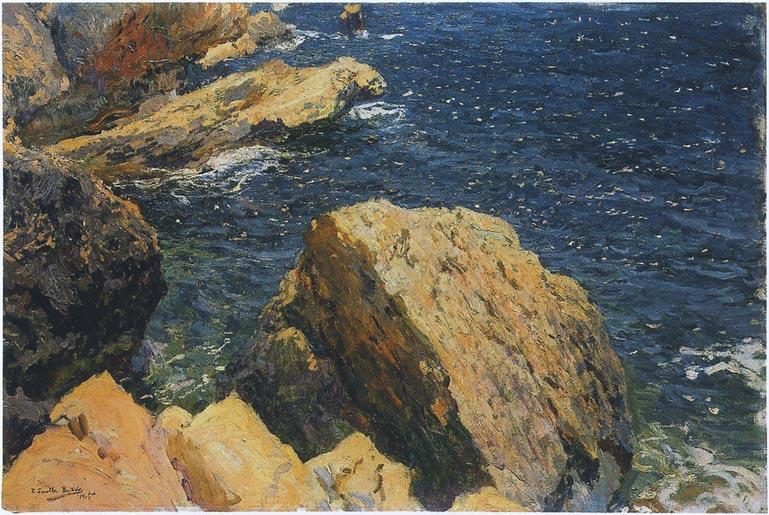 Rocks of the Cape Javea   Joaquin Sorolla y Bastida   oil painting