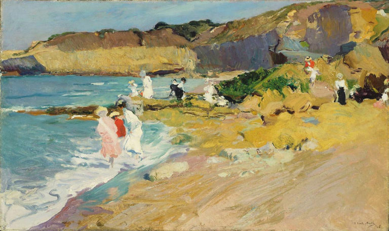 Rocks and the Lighthouse Biarritz | Joaquin Sorolla y Bastida | oil painting
