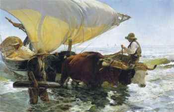Return from Fishing | Joaquin Sorolla y Bastida | oil painting