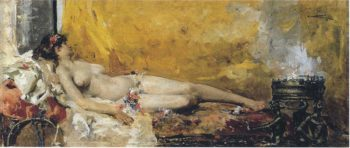 Resting Bacchante | Joaquin Sorolla y Bastida | oil painting