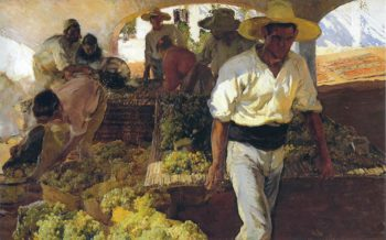 Preparing Raisins | Joaquin Sorolla y Bastida | oil painting