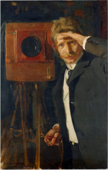 Portrait of photographer Christian Franzen | Joaquin Sorolla y Bastida | oil painting