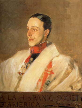 Portrait of King Alfonso | Joaquin Sorolla y Bastida | oil painting
