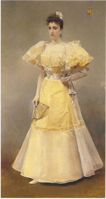 Portrait of Countess of Santiago | Joaquin Sorolla y Bastida | oil painting