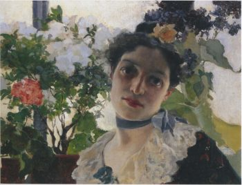 Portrait of Clothilde | Joaquin Sorolla y Bastida | oil painting