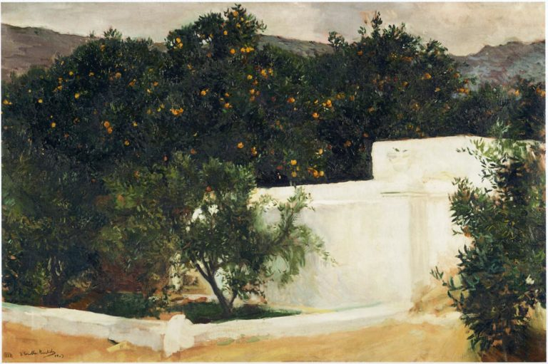 Orange trees on the road to Seville | Joaquin Sorolla y Bastida | oil painting