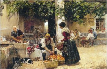 Orange seller | Joaquin Sorolla y Bastida | oil painting