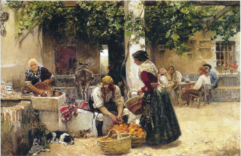 Orange seller | Joaquin Sorolla y Bastida | oil painting