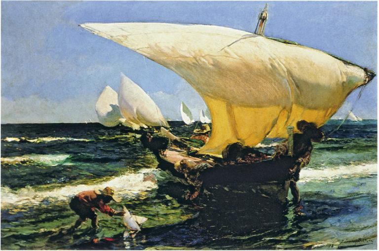 On the Coast of Valencia   Joaquin Sorolla y Bastida   oil painting