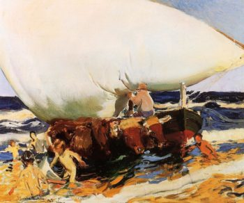 On the Beach Valencia | Joaquin Sorolla y Bastida | oil painting