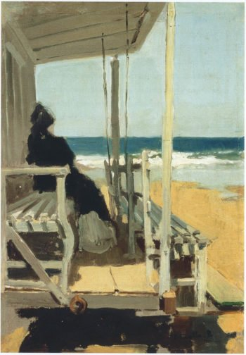 On San Sebastian beach | Joaquin Sorolla y Bastida | oil painting