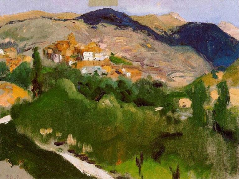 Mountains at Jaca | Joaquin Sorolla y Bastida | oil painting