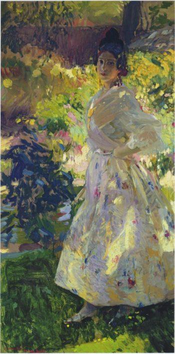 Maria dressed as a Valencian peasant girl | Joaquin Sorolla y Bastida | oil painting