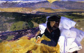 Maria Convalescing in El Pardo | Joaquin Sorolla y Bastida | oil painting