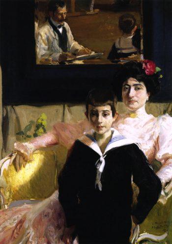 Lucrecia Arana with her Son | Joaquin Sorolla y Bastida | oil painting
