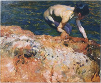 Looking for Shellfish | Joaquin Sorolla y Bastida | oil painting